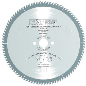Zāģripa plastmasai un alumīnijam HW 216X2.6/2.2X, CMT