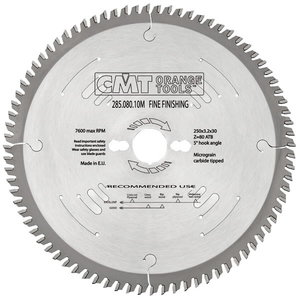 FINE FINISHING SAW BLADE 350X3.5X30 Z108 15AT, CMT