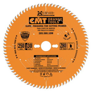 SAW BLADE FOR FRAMES CUT 250X2.5X30 Z80 15ATB, CMT