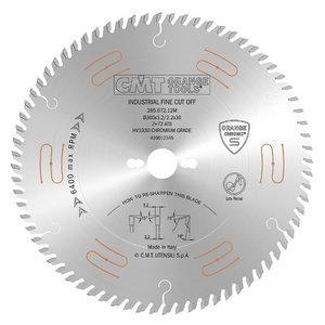 Precision saw blade 160x2.2/1,6x20 Z=48 15° ATB Chrome INDUSTRIAL, CMT