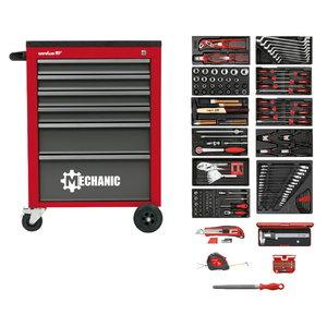Įrankių vežimėlis MECHANIC su įrankių komplektu 164vnt., Carolus