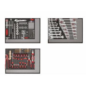 tööriistakäru MECHANIC punane tööriistadega 132pc, Carolus