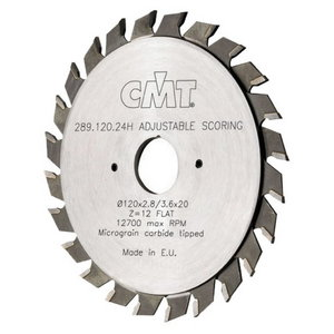 FLAT ADJUSTAB.SCORING BLADE 120X2.8-3.6X20 Z24, CMT