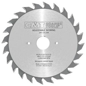 Diskas pjovimo 120x3,6/2,8x20 Z12+12 HM, CMT
