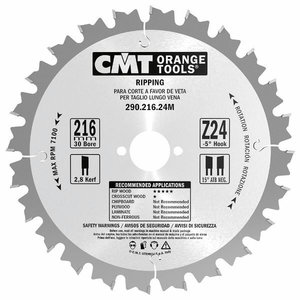 Saw blade for wood 190x2,6x30mm Z12 a=20° b=10° ATB, CMT