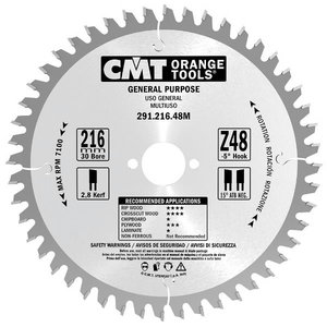 Diskas pjovimo 235x2,8x30 Z36 HM, CMT