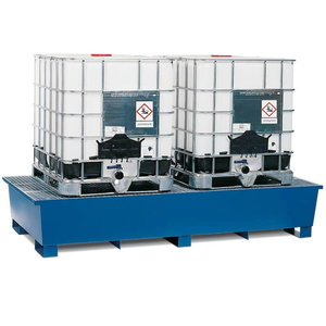 Safety pallet for 2 IBC containers, 2680x1300x480mm, Orion