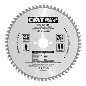 Pjovimo diskas 190x2,6x30mm Z40 a=15° b=15° ATB, CMT
