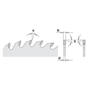 Katkaisuterä 216x2,8x30mm Z64 a=-5° Neg. b=15° ATB, CMT
