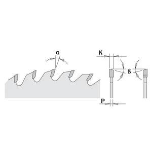 Zāģripa kokam Fine 216x2,8x30mm Z64 a=-5° Neg. b=15° ATB, CMT