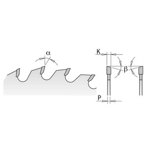 Saeketas puidule 254x2,4x30mm Z48 a=-5° Neg. b=15° ATB