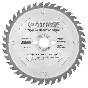 RIPPING-CROSSCUT SAW BLADE 254X2.4X30 Z=60 -5°ATB, CMT
