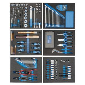 Įrankių  rinkinys moduliuose 190 vnt. TS-190, Gedore