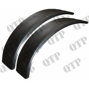 Plastic mudguard flap kit 2pcs 400mm width, radius 1225mm, Quality Tractor Parts Ltd