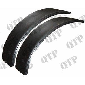 Plastic mudguard flap kit 2pcs 400mm width, radius 1225mm, Quality Tractor Parts Ltd