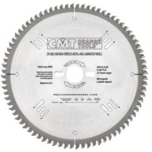 NON-METAL/LAMINATE SAW BLADE250X3.2X30 Z80 TCG, CMT