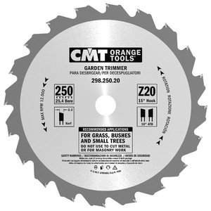 GARDEN TRIMMER SAW BLADES 250X2.2/1.4X25.4 Z20 ATB, CMT