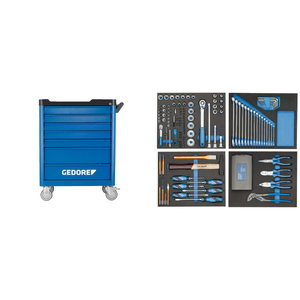 Tool trolley with 7 drawers with tool set (147 pieces), Gedore