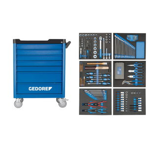 Tool trolley with 7 drawers with tool set (190 pieces), Gedore