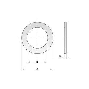 Sovitusrengas 30/25,4x2,0mm, CMT