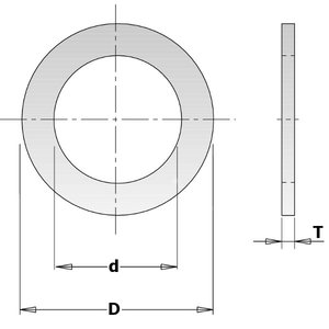 REDUCTION RING FOR SAW BLADE 30/25,4x2,0mm, CMT