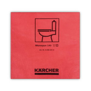 Mikrofiiberlapp 37,5 x 38 cm, punane ( 10 tk pakis), Kärcher