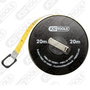 Ruletė su plastikine juostele 20m 10mm, KS Tools
