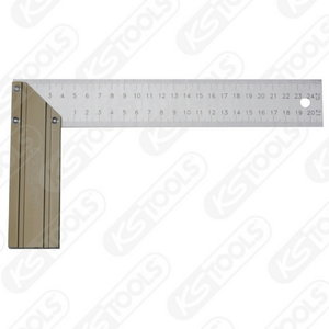 Cabinetmakers square with aluminium stock, 250mm, KS Tools