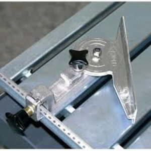 Angled limit stop for CTS saws, Cedima