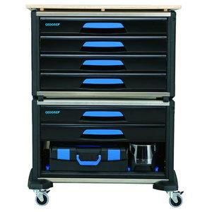 Įrankių vežimėlis WorkMo B3 su įrankiais, 110 vnt., Gedore