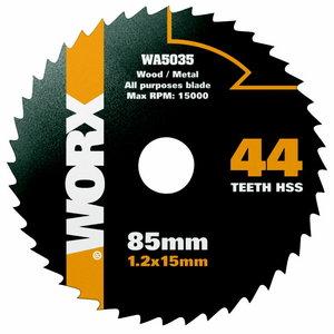 Zāģa asmenis HSS, z44, 85mm. WX423, Worx
