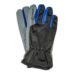 Gloves, syntethic leather palm, nylon backhand, Stokker