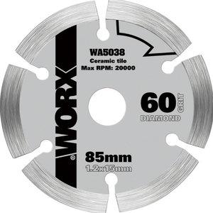 Teemant saeketas, 85mm. WX423. Keraamikale, Worx