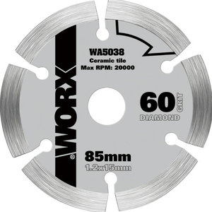 Dimanta griezējdisks, 85mm. WX423, Worx