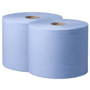 Cleaning rolls  Comfort, 2-ply, blue, 350 m, Wepa