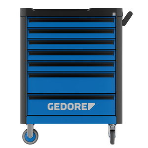 Tööriistakäru Workster Highline, tööriista kompl 147-osa, Gedore