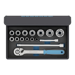 "Socket set 1/2"" in textile bag 15 pcs"