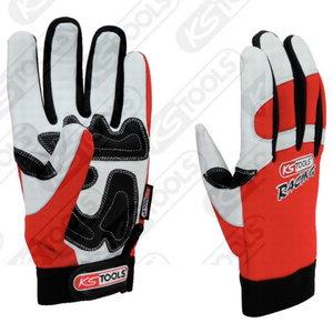 Gloves, leather grip, XL, Kstools