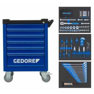 Įrankių vežimėlis WORKSRER su 172 vnt. įrankių, Gedore