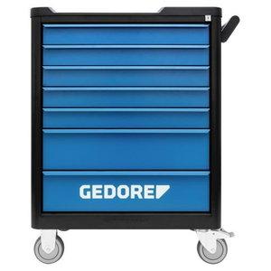 Įrankių vežimėlis  smartline BLACK EDITION 7 stalčiai, Gedore