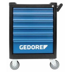 Įrankių vežimėlis smartline BLACK EDITION 6 stalčiai, Gedore