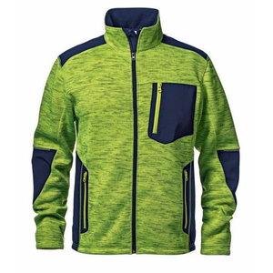 Augstar redzamības džemperis Fighter, dzeltans/tumšzils, XL