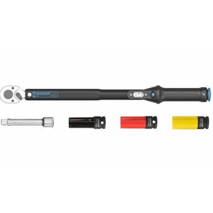 Torque wrench TORCOFLEX 1/2´´ 40-200 Nm +sockets 17,19,21m, Gedore