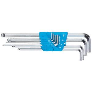 L-raktų kompl., 8 vnt 2,5-10mm, apvali galva, Gedore