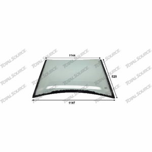 Front glass WB97S-2, TVH Parts