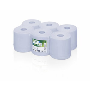 Paper towel rolls Comfort blue, 2-ply, 6 x 150 m, Centerfeed, WEPA