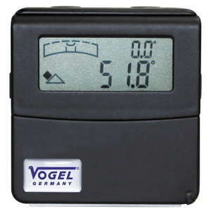 Electr. Digital Angle-Sensor with 90° swiveling LCD display, Vögel