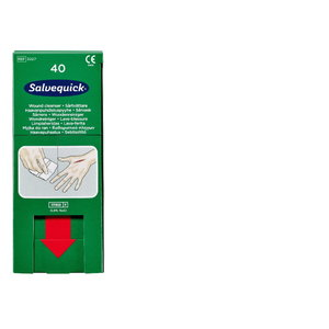 Salvequick Wound Cleanser refill (0,9% NaCl, sterile), 40 wi, CEDERROTH