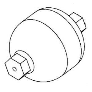 Akumuliatorius hidraulinės sistemos, 0.32l, JCB