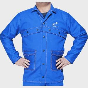 Кофта для сварщиков Fire Fox, синяя, размер L, WELDAS